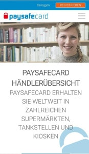 paysafe card casino Bildschirmfoto
