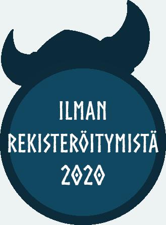 Ilman Rekisterröitymistä 2020