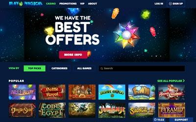 play magical casino screenshot
