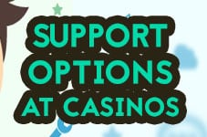 support options casinos